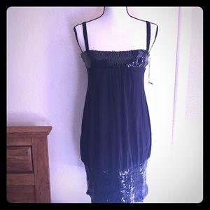 Vertigo Paris party sequined dress size L NWT